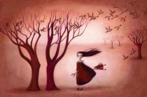 Imgen la niña silencio viento libertad