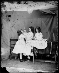 NPG P991(9); Edith Mary Liddell; Lorina Charlotte ('Ina') Liddell; Alice Pleasance Liddell by Lewis Carroll (Charles Lutwidge Dodgson)