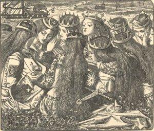 kingarthurinavalongrabadodedanterossetti1857