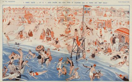 La Vie Parisienne 1925 1920s France Vallee beaches holidays seaside illustrations beach
