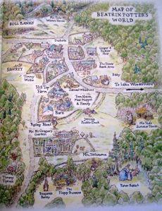 Mapa del Mundo de Beatrix Potter