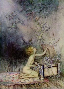 Ilustración mágica de Arthur Rackham