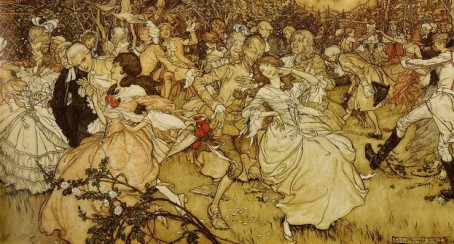 Arthur Rackham - ''The Dance in Cupid's Alley''