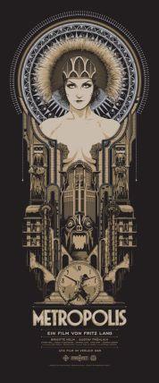 Cartel de la película Metropolis de Fritz Lang