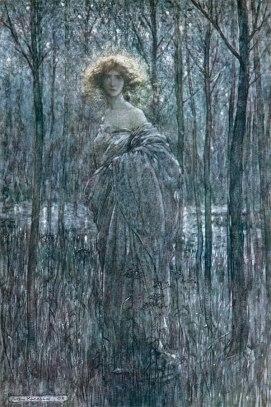Ilustración para El Sueño de una Noche de Verano-Arthur Rackham