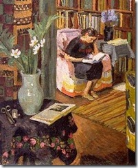 A woman reading indoors-Vanessa Bell