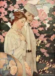 Jessie Willcox Smith First Love, Young Romance, 1909