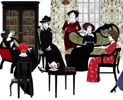 El Club del almuerzo. Ilustración de Sara Morante