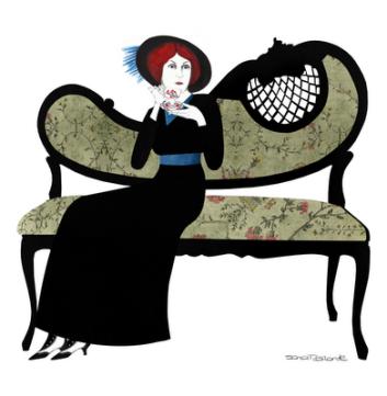 Ilustración de Sara Morante.Xingú-Edith Wharton