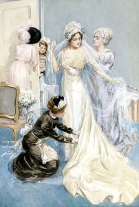 Novia preparándose para la boda-Harrison Fisher 1.912