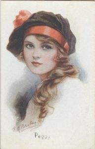 Postal vintage by E.C Brisley
