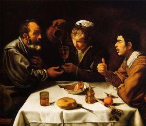 El almuerzo. Velázquez (1.618-1.619)