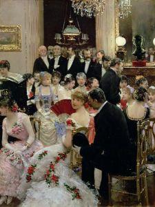 The Soiree by Jean Beraud - 1880