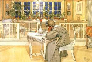 Carl-Larsson-Evening-Before-The-Journey-To-England