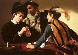 Jugadores de cartas- Caravaggio 1.595