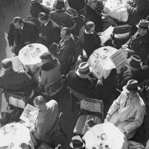 El  Cafe Kranzler en Berlín, 1936