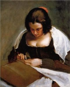 La mujer de la aguja - Diego Velázquez 1.643