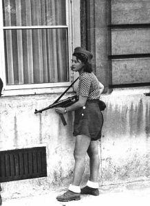Mujer de la resistencia francesa