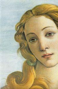 Detalle de Venus. El nacimiento de Venus by Sandro Boticelli