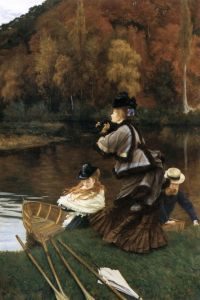 James Jacques Joseph Tissot - Autumn on the Thames