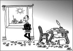 Cervantes visto por Forges