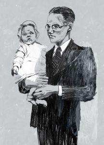 El doctor Sloane y su hija Catherine