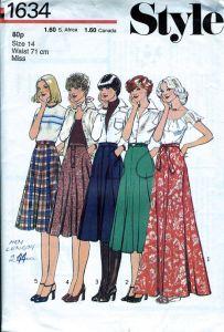 Patrones moda años 70