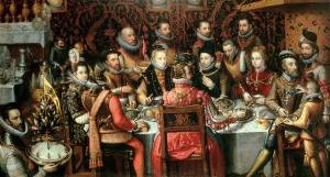 Banquete real- Atribuido a Alonso Sánchez-Coello