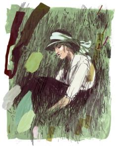 Catherine Sloane vista por el ilustrador Jonny Ruzzo