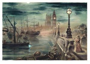 El Retrato de Dorian Gray. Ilustración de Enrique Corominas