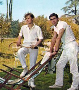 Helmut Berger y Franco Nero en Los Jardines de Finzi-Contini