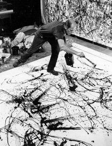 El pintor Jackson Pollock
