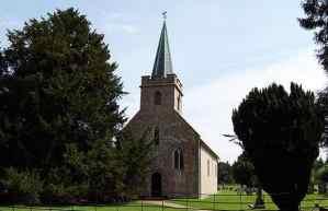 Iglesia de Steventon en la que Jane fue bautizada