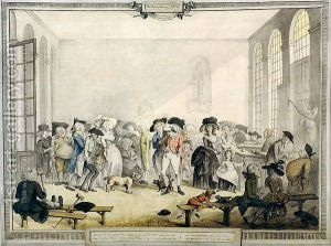 Humphry Repton:Taking the Waters at the Pump Room, Bath, 1784