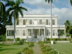 Una casa señorial de una plantación de Jamaica